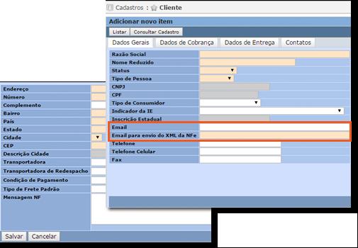 Envio automático de arquivo xml e Danfe para o endereço de email registrado no cadastro do Cliente